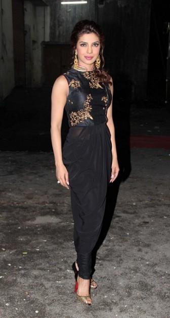 priyanka chopra bigg boss 7 black outfit
