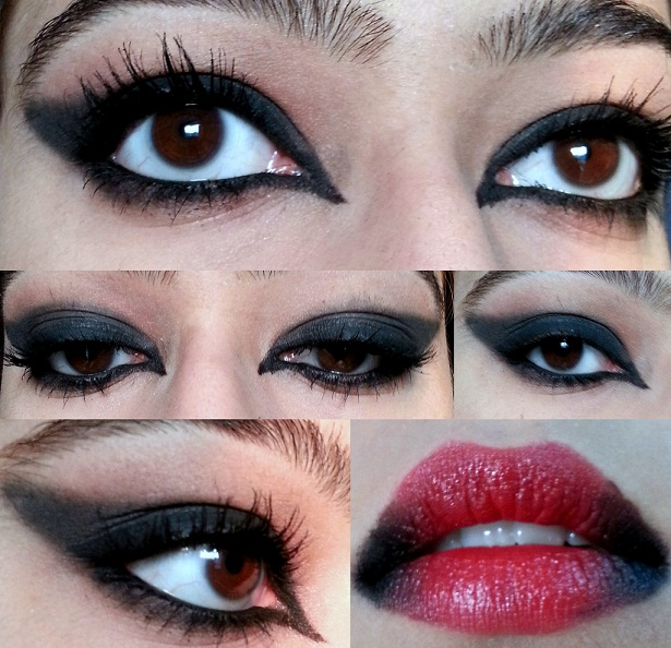scary blood thirsty eye and lip makeup ideas