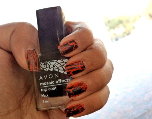 Avon Mosaic Effects Top Coat black review