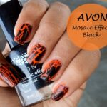 Avon Mosaic Effects Top Coat Nail Polish Review and Swatches: Black