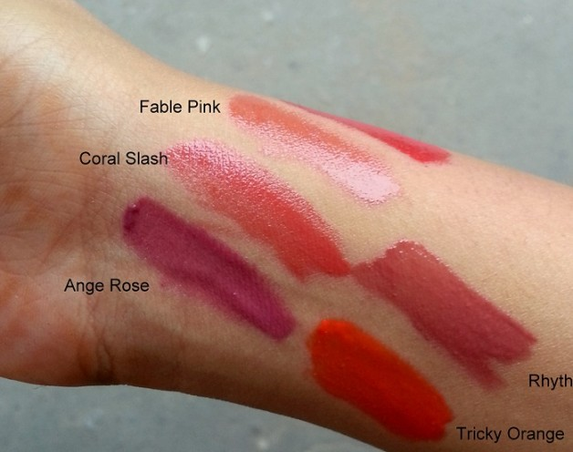 colorbar pout in a pot lipcolor swatches natural light