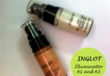 inglot amc face and body illuminator review 61 63 dark skin
