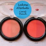 Lakme Absolute Face Stylist Blush Duos Coral and Peach Blush: Reviews, Swatches, FOTD