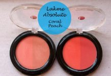 lakme absolute blush coral peach face stylist blush duos reviews