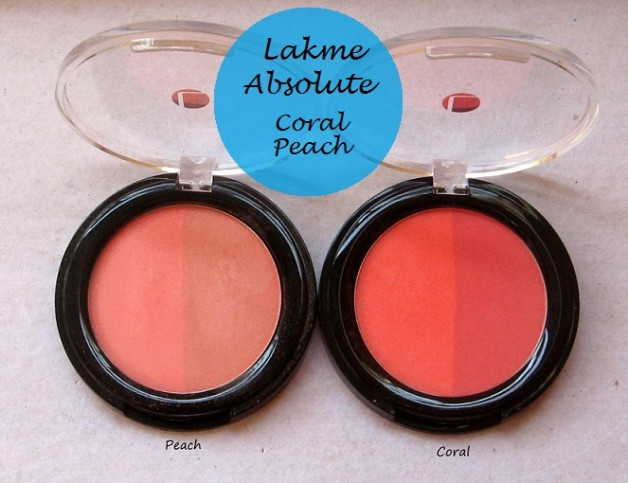 lakme absolute blush coral peach face stylist blush duos reviews