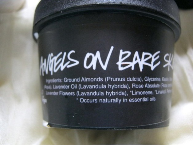 lush cleanser angels on bare skin ingredients
