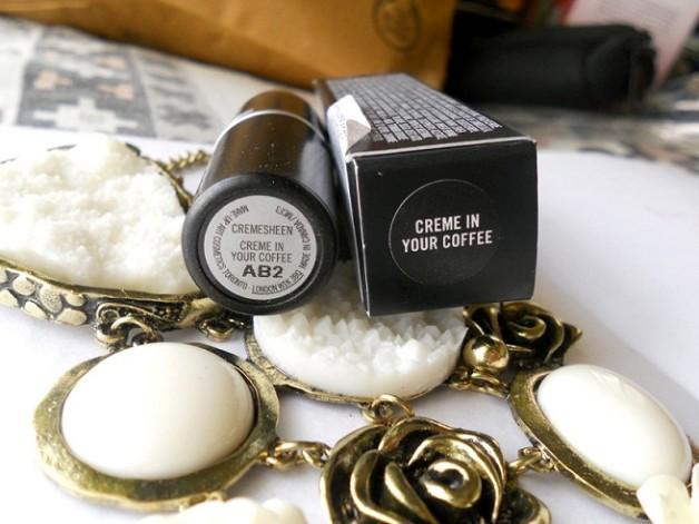 mac creme in your coffee lipstick photo