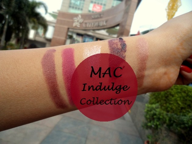 mac indulge collection swatches preview