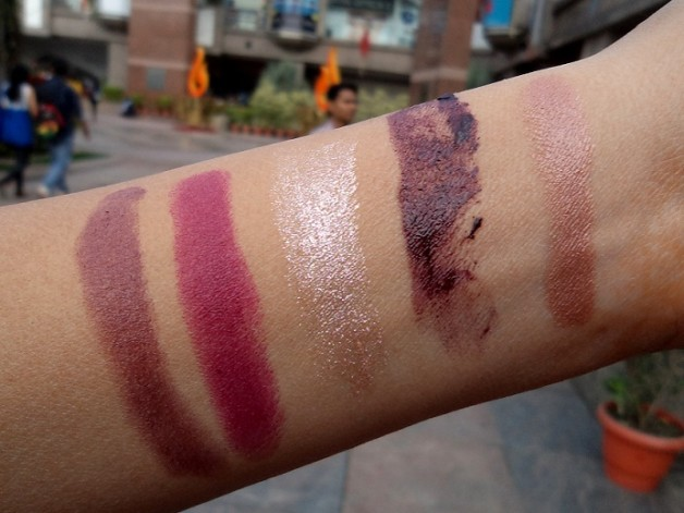 mac indulge lipstick swatches indian beauty blog