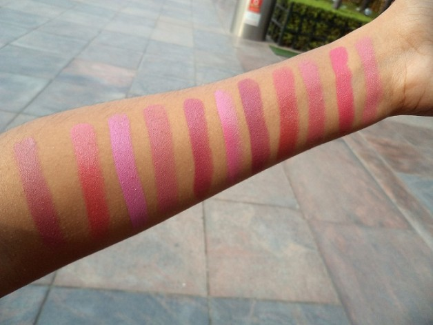 mac lipstick pink swatches blog india