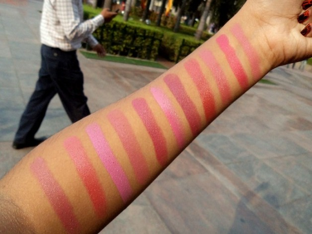 mac lipsticks pink part 1 swatches
