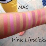 mac pink lipstick swatches for indian skin tones