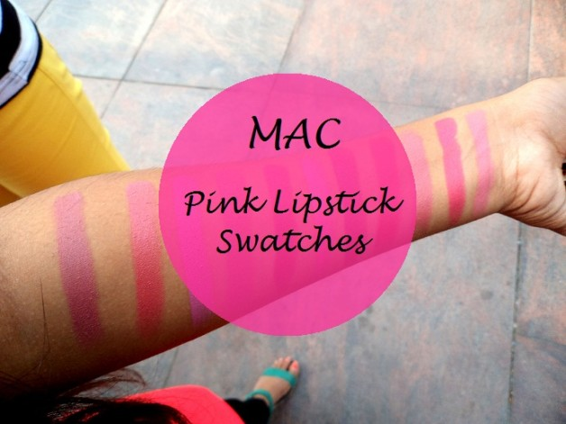 mac pink lipstick swatches on blog