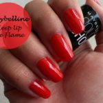 maybelline color show nail polish keep up the flame swatches