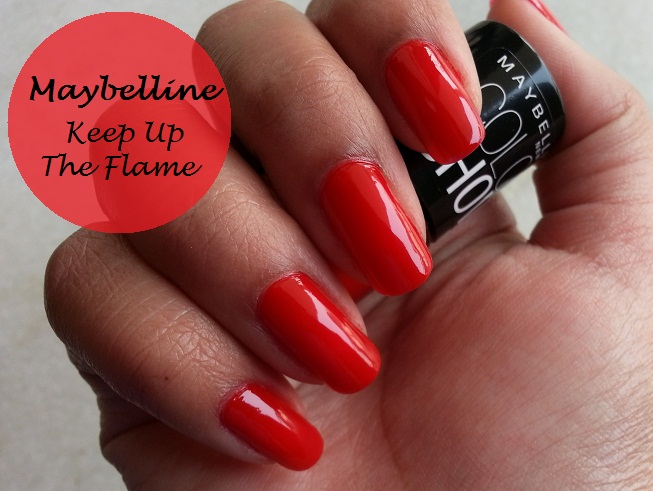 Maybelline Color Show Nail Polish Keep Up The Flame (215) Swatches ...