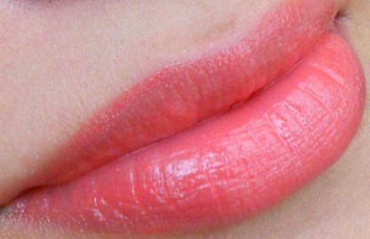 YSL Rouge Volupte Shine Lipstick Orange Impertinent 16 lip swatch