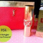 YSL Rouge Volupte Shine Lipstick Orange Impertinent No.16: Swatches and Review