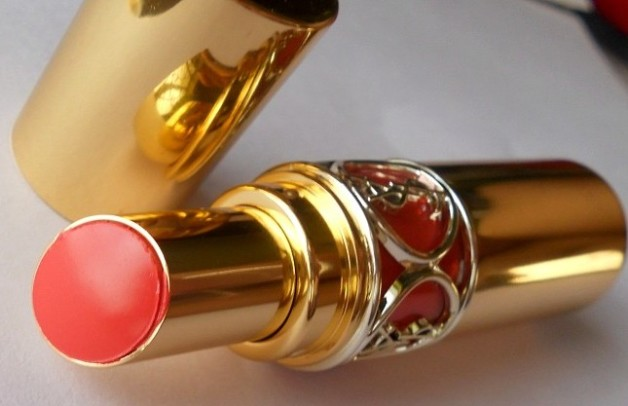 YSL Rouge Volupte Shine Lipstick Orange Impertinent 16 review photo