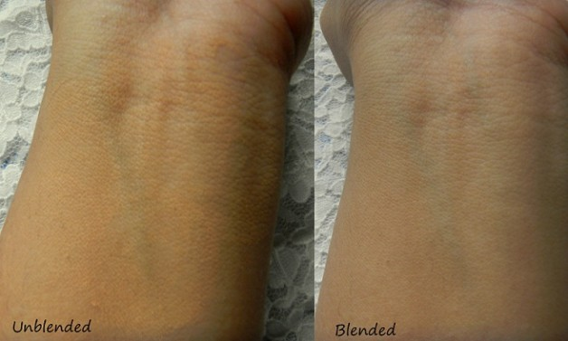 kryolan Tv Paint stick foundation swatch before after