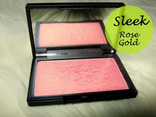 sleek rose gold blush review blog