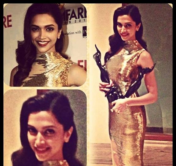 Deepika Padukone Filmfare Awards 2014 outfit