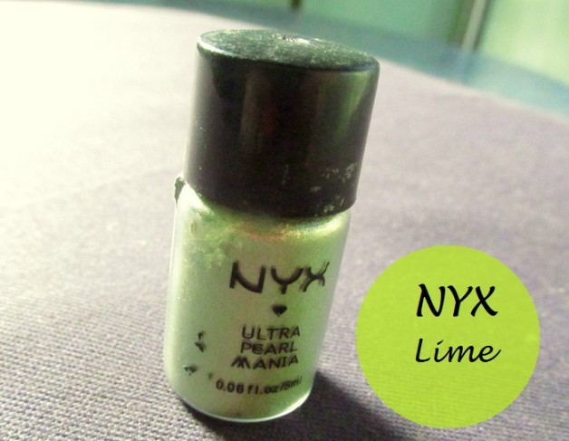 NYX Ultra Pearl Mania EyeShadow Lime Review photo