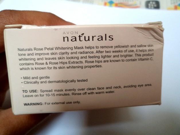 avon rose petals whitening mask review ingredients