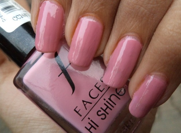 faces hi shine nail enamel pretty pretty review