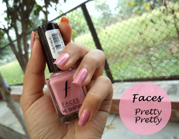 faces hi shine nail enamel pretty pretty review NOTD
