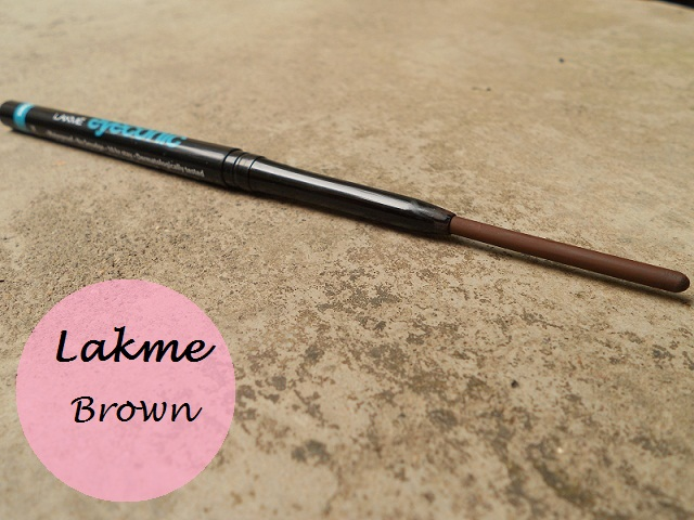 lakme eyeconic kajal brown review swatches india