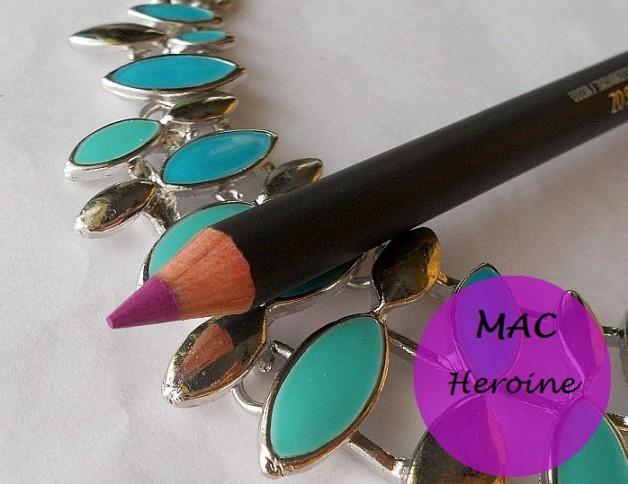mac heroine lip pencil review photo