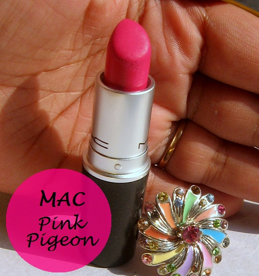 mac pink pigeon lipstick review india