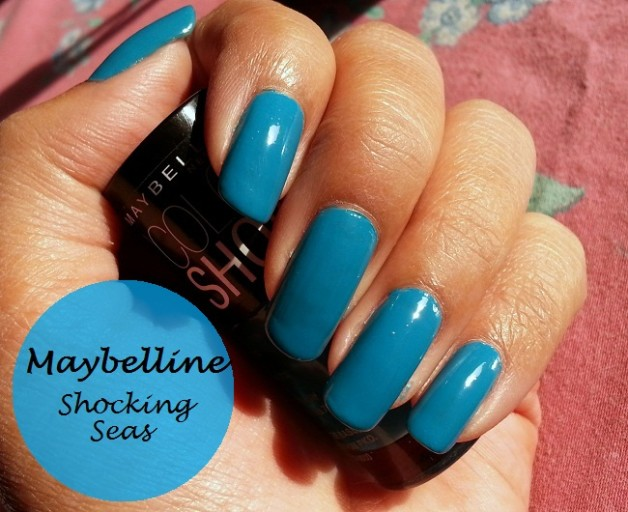 maybelline color show blue nail polish shocking seas
