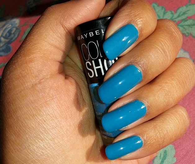 maybelline color show nail polish shocking seas