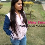 Navy Girl's New Year Outfit and Makeup