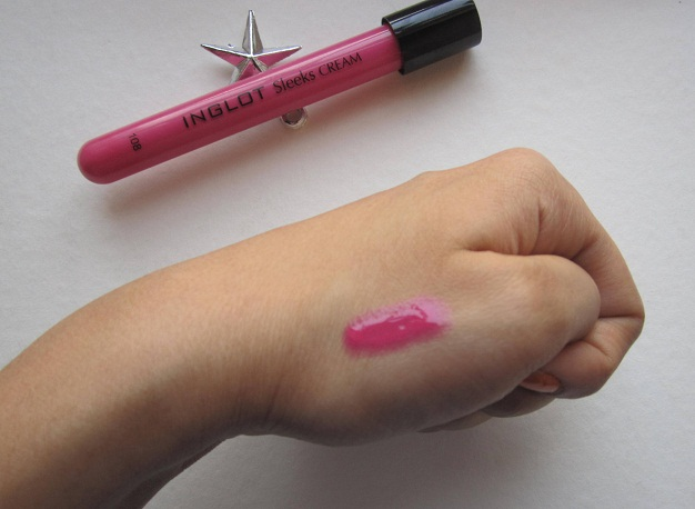INGLOT Sleeks Cream Lip Paint 108 review swatch