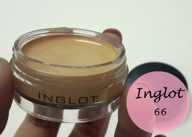 Inglot amc cream concealer 66 review swatches india