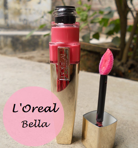 L'oreal shine caresse stain Bella review swatches india