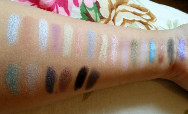 MUA Britains and Ireland Next Top Model Palette High Definition Supermodel Eyes review swatches