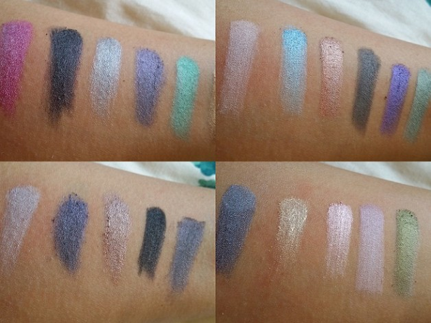 MUA Britains and Ireland Next Top Model Palette High Definition Supermodel Eyes review swatches wet