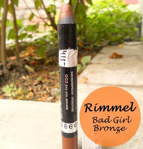 Rimmel ScandalEyes eyeshadow stick Bad Girl Bronze review swatch blog