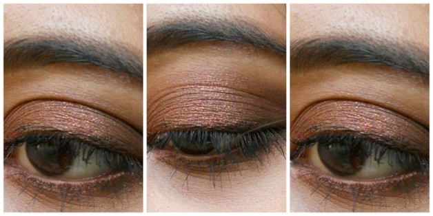 Rimmel ScandalEyes eyeshadow stick Bad Girl Bronze review swatch eotd