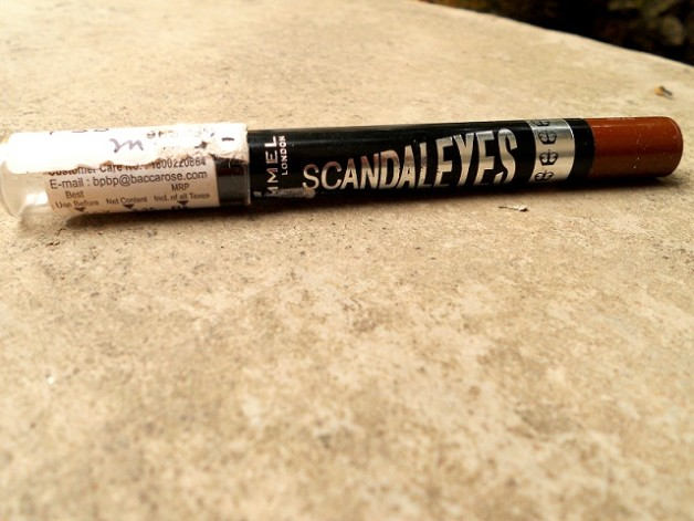 Rimmel ScandalEyes eyeshadow stick Bad Girl Bronze review swatch photo