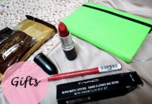 birthday gifts makeup chocolates diary