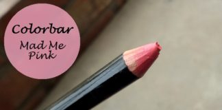 colorbar definer lip liner mad me pink review swatches photo
