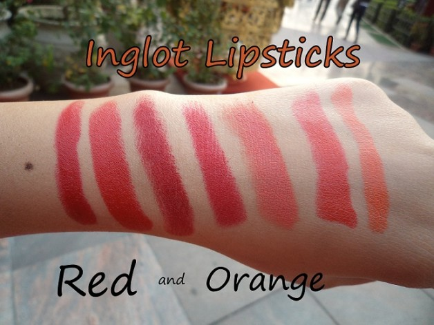 inglot 176 127 409 408 401 105 278 lipstick swatches