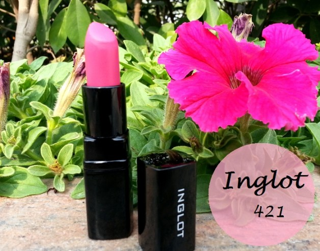 inglot matte lipstick 421 review swatches blog