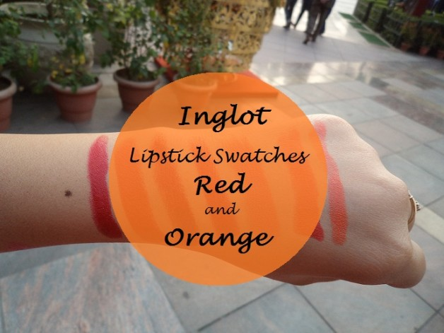inglot matte lipsticks swatches red and orange