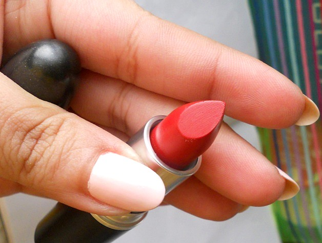 mac lady bug lipstick review swatches blog