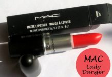 mac lady danger lipstick review swatches india